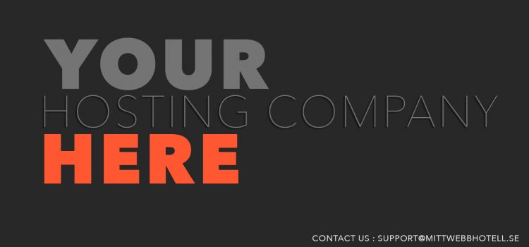 Do yo want to promote your hosting company on our website?